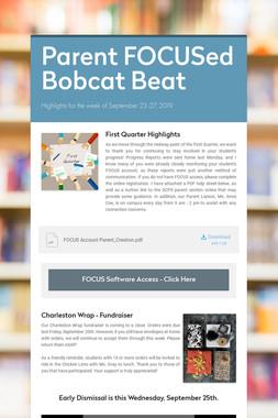 Parent FOCUSed Bobcat Beat