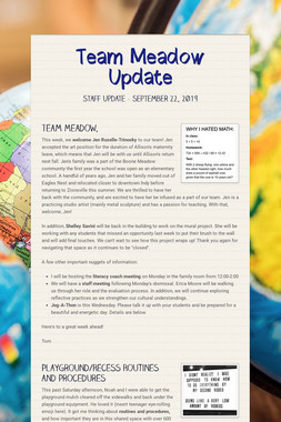 Team Meadow Update