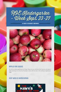 ROE Kindergarten - Week Sept. 23-27