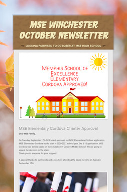 MSE Winchester October Newsletter