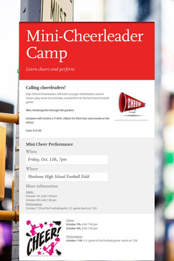 Mini-Cheerleader Camp