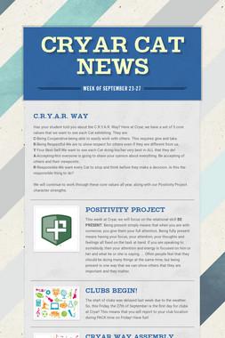 cryar cat news