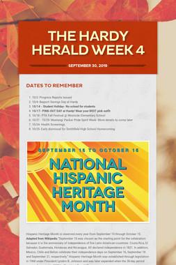 The Hardy Herald Week 4