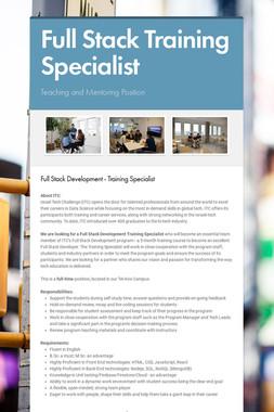 Full Stack Training Specialist