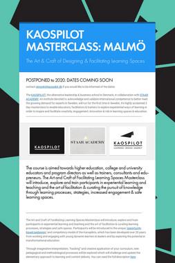 KAOSPILOT MASTERCLASS: MALMÖ