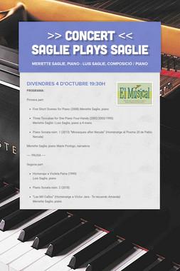 >> CONCERT << Saglie plays Saglie