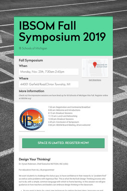IBSOM Fall Symposium 2019