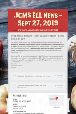 JCMS ELL News - Sept 27, 2019