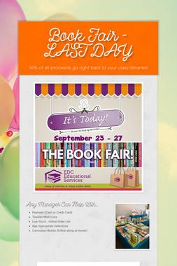 Book Fair - LAST DAY