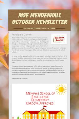 MSE Mendenhall October Newsletter
