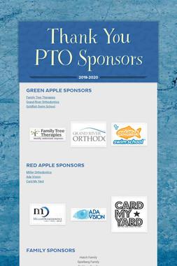 Thank You PTO Sponsors