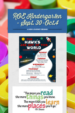 ROE Kindergarten - Sept. 30-Oct.4