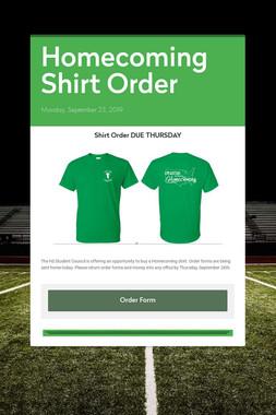 Homecoming Shirt Order