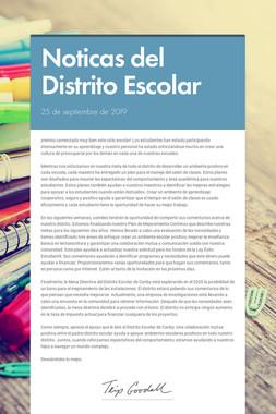 Noticas del Distrito Escolar
