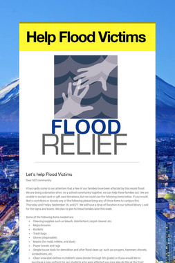 Help Flood Victims