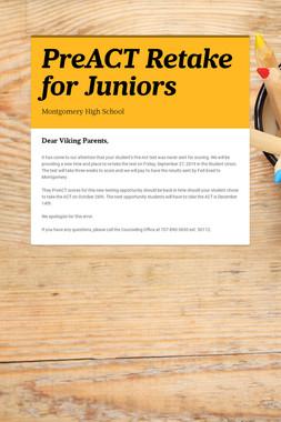 PreACT  Retake for Juniors
