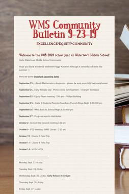 WMS Community Bulletin 9-23-19