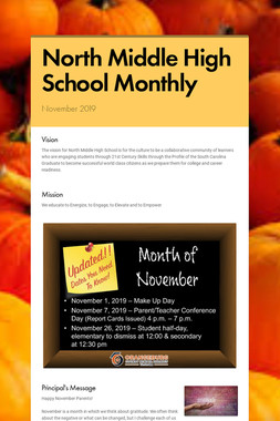 North Middle High School Monthly