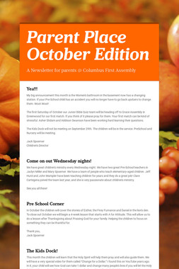 Parent Place October Edition