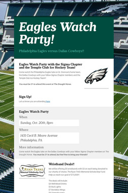 Eagles Watch Party!