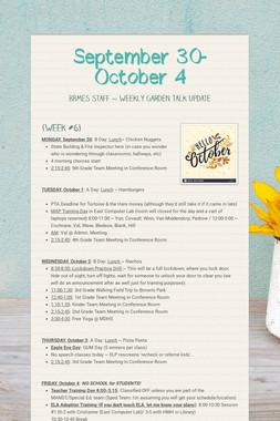September 30- October 4