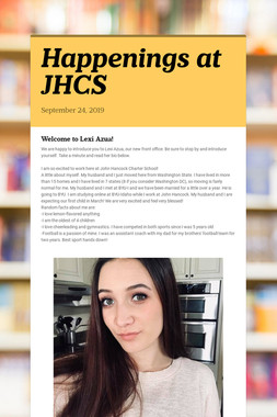 Happenings at JHCS