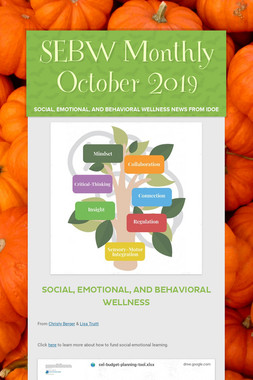 SEBW Monthly October 2019