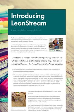 Introducing LeanStream