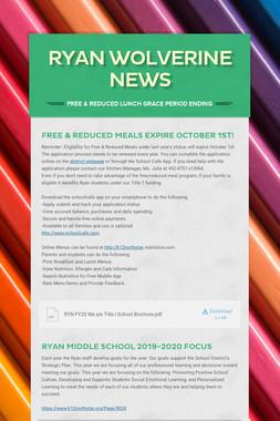 Ryan Wolverine News