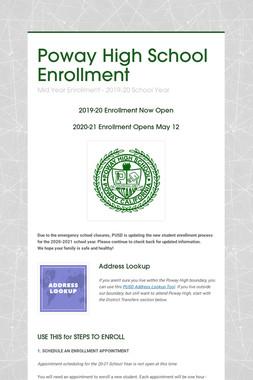 Poway High School Enrollment