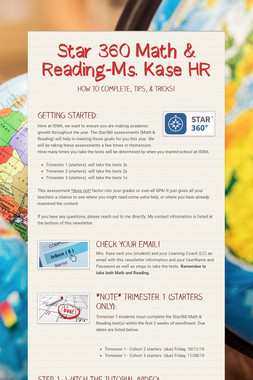 Star 360 Math & Reading-Ms. Kase HR