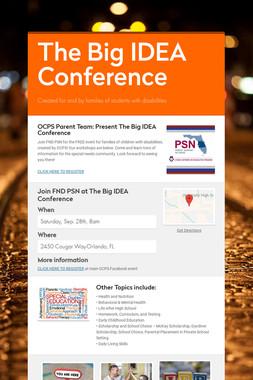 The Big IDEA Conference