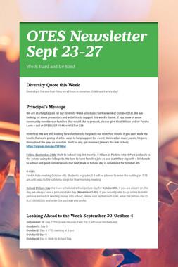 OTES Newsletter Sept 23-27