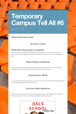 Temporary Campus Tell All #6
