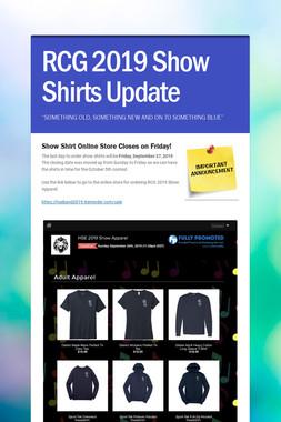 RCG 2019 Show Shirts Update
