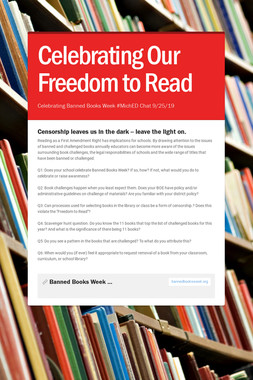 Celebrating Our Freedom to Read