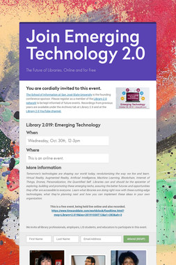 Join Emerging Technology 2.0