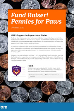 Fund Raiser!  Pennies for Paws