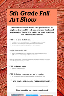 5th Grade Fall Art Show