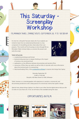This Saturday - Screenplay Workshop