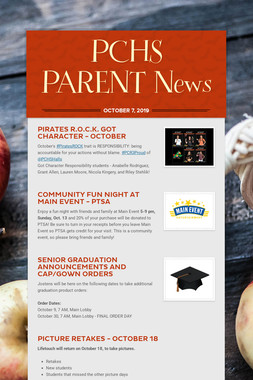 PCHS PARENT News