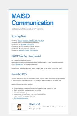 MAISD Communication