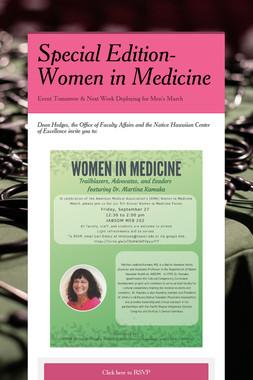 Special Edition-Women in Medicine