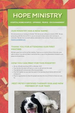 HOPE Ministry