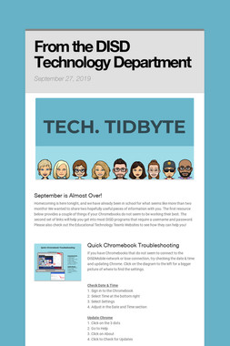 From the DISD Technology Department