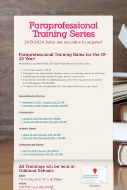 Paraprofessional Training Series