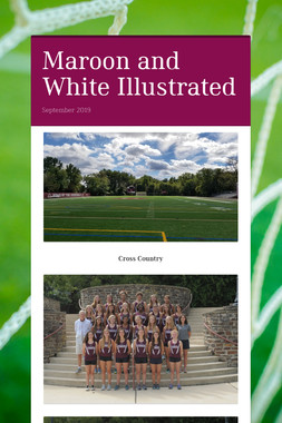 Maroon and White Illustrated