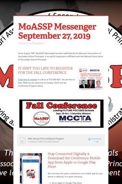MoASSP Messenger September 27, 2019