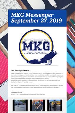 MKG Messenger September 27, 2019