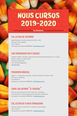 NOUS CURSOS 2019-2020